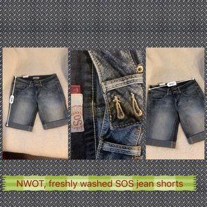 Sos Jean shorts NWOT